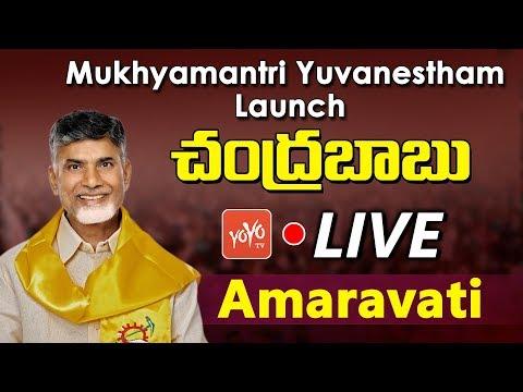 Chandrababu Naidu LIVE |  Launch of Mukhyamantri Yuvanestham at Amaravati | AP News | YOYO TV