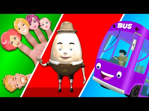 Finger Family | Humpty Dumpty | Wheels On The Bus | Five Little Monkeys | Kids video