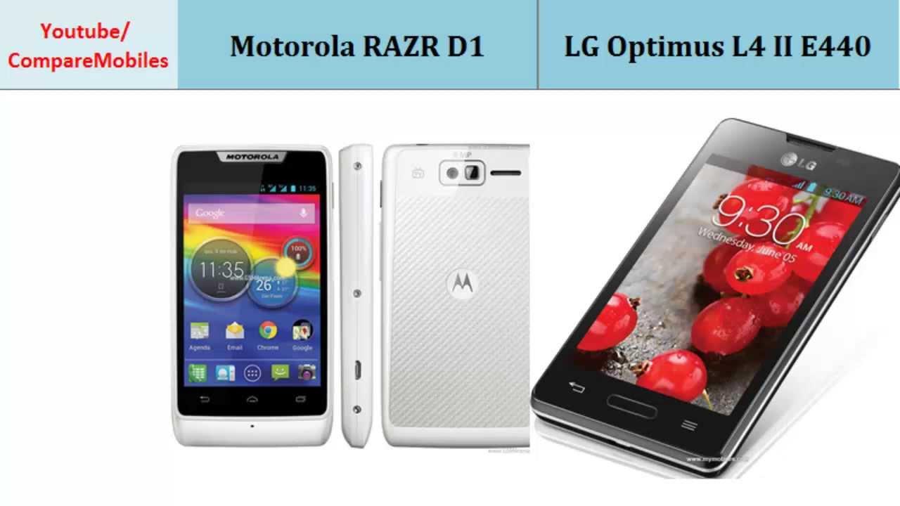 Motorola RAZR D1 or LG Optimus L4 II E440, specs ...