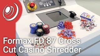 Formax FD 87 Cross Cut Casino Shredder