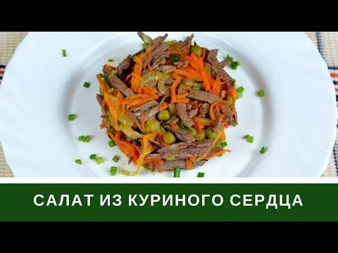 Салат Из Сердца С Морковью И Горошком Без майонеза