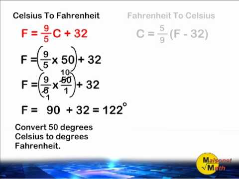 Fahrenheit And Celsius Conversion - YouTube