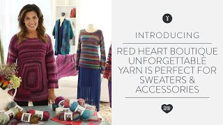 Red Heart Boutique Unforgettable Yarn is Perfect for Sweaters & Accessories