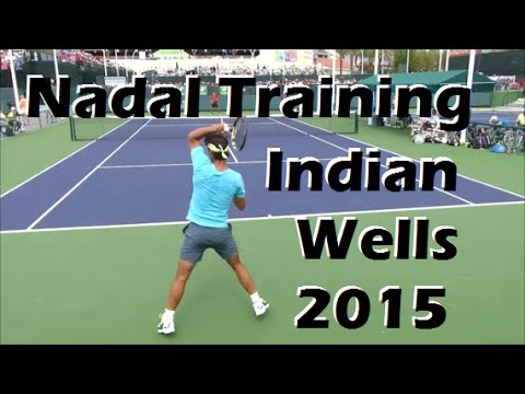 Rafael Nadal Training | Indian Wells 2015 | Court Level