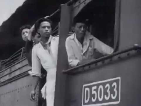 Arsip Video Sejarah, melepas kepergian orang orang belanda ke negaranya  Jakarta, 1946.