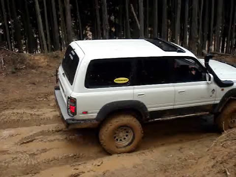《15》 TOYOTA 4x4 Landcruiser 80 1HD-T   Nara trial mountain off road trail part1