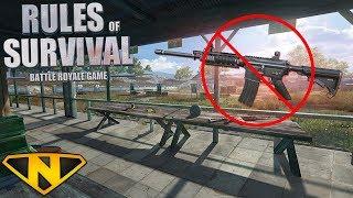 No Assault Rifle Challenge! (Rules of Survival: Battle Royale #25)