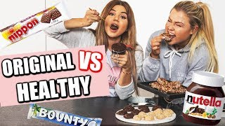 ORIGINAL vs HEALTHY - Nutella/Bounty/Nippon in GESUND/VEGAN - mit Sophia Thiel