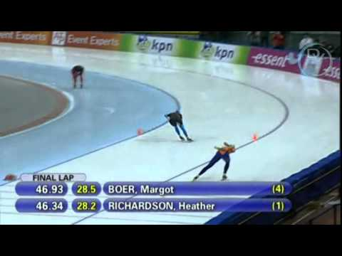 Margot Boer & Heather Richardson 1000m, 2nd round, Changchun 2010