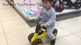 Bạn Mon đi siêu thị mua đồ chơi - Mon đi xe chòi chân   MinhMon