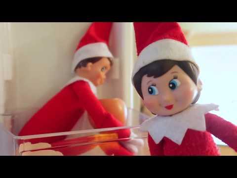 ELF ON THE SHELF Frozen in Fridge | Elf Caught moving on Camera