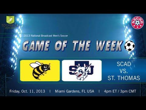 SCAD Savannah at St. Thomas (FL)- NAIA Men's Soccer- Friday, October 11 at 4:00pm EST