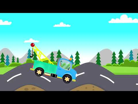 Roadside Assistance, Excavator, Tractor, Bajki Dla Dzieci | Laweta Truck, Koparka, Traktor