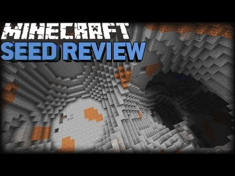 Minecraft 1.8 Seeds: EPIC CRATER. PYRAMID. SPAWNER & NPC!!