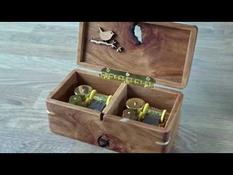 Für Elise. Music box with spring wound movement