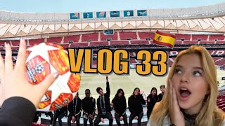 Touching the chapmions league ball! Madrid Vlog