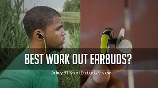 Best Bluetooth Workout Earbuds Under $50?  | Aukey BT Sport Earbuds!