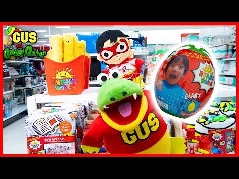 Target Shopping for Ryan's World Green Mystery Egg and Bedding + Unboxing Giant Egg Toy Reveal