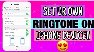 How To set Your Own iphone Ringtone And Text Tones