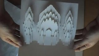 Pop Up Alhambra Court Of Lions Spain Card Tutorial