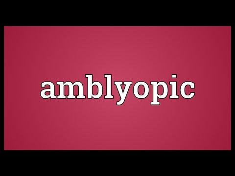 Header of amblyopic
