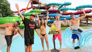 TAKING OVER A WATERPARK! w/ Sam, Colby, Corey & Andrea