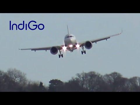 IndiGo Airbus A320neo Crosswind Landing @ Hamburg Finkenwerder