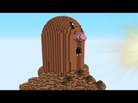 Minecraft vs Pokemon go   GIGA DIGLETT   (PvZ/Pokego Land)