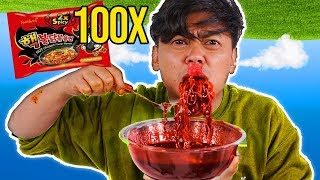 Do Not Eat 100x SPICY FIRE KOREAN NOODLES~!!