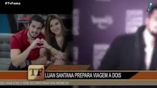 Luan Santana fala de viagem com namorada e casamento.