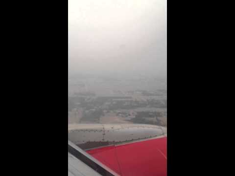 Air India landing at Jaipur International Airport
