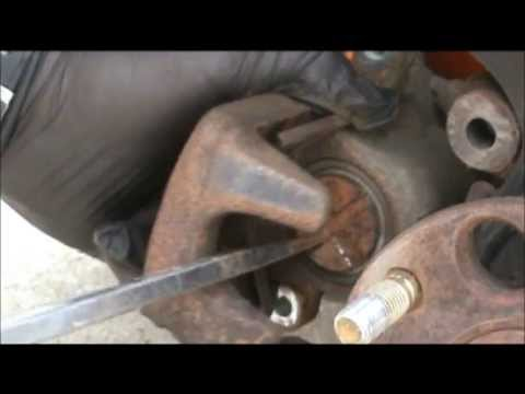 2006 Honda Accord replacing rear brake pads and rotors