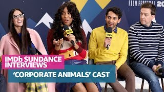 Demi Moore, Jessica Williams, Karan Soni, Ed Helms & Patrick Brice Discuss 'Corporate Animals'