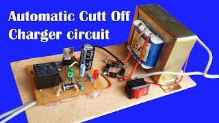 How to make automatic cut off battery charger circuit 12V under 10AH
