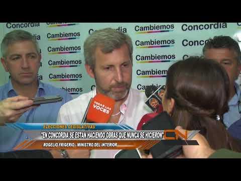 """Rogelio Frigerio llegó a Concordia y se reunió con periodistas locales: """"Estamos haciendo obras en Concordia que nunca se hicieron""""."""