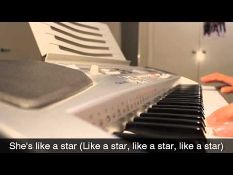 Taio Cruz - She's Like A Star - Piano Cover & Lyrics video