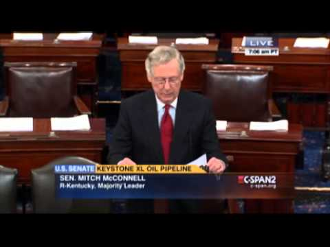 Senator Mitch McConnell splits the bill feb 24 2015