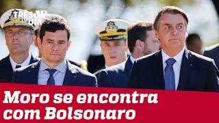 Moro se encontra com Bolsonaro após vazamento de conversas
