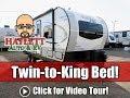 NEW MODEL 2020 Rockwood 2204S Base vs  Loaded Twin to King Bed Ultralite Travel Trailer