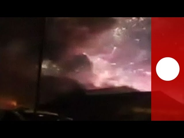 Fireworks factory goes up with a bang: amateur footage of catastrophic explosion