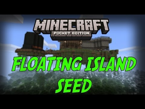 Minecraft PE: SEED Review - FLOATING ISLAND