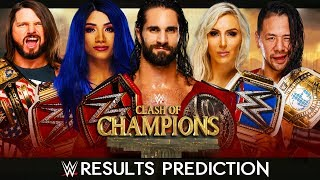 WWE CLASH OF CHAMPIONS 2019 | FULL CARD RESULTS PREDICTION