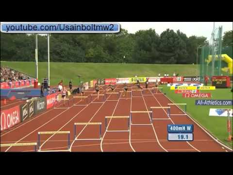 400M Hurdles Women Birmingham Diamond League 2012