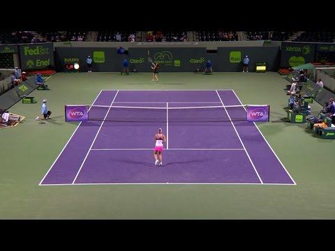Agnieszka Radwanska 2015 Miami Open Hot Shot