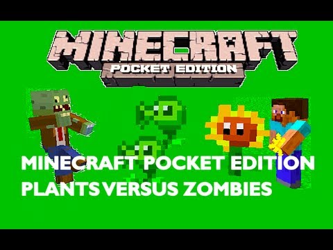 Plants vs Zombies in Minecraft Pocket Edition! Map Showcase Music Videos