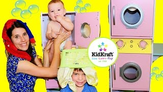 KidKraft Toy Review Laundry Playset Washing Clothes
