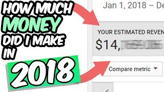 How Much Money I Made in 2018 From YouTube