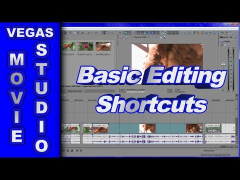 Basic Editing Shortcuts & Transitions using Sony Vegas Movie Studio HD Platinum 10