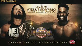 WWE Clash Of Champions 2019 Aj Styles vs Cedric Alexander Official Match Card
