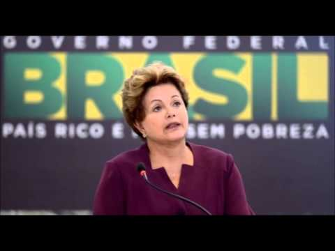 Brazilian President Dilma Rousseff Supports Protests